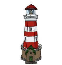 the old stone lighthouse vector image