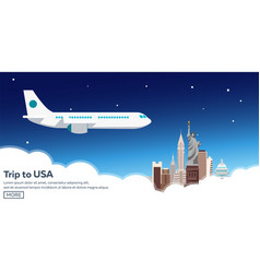 trip to usa new york skyline travelling vector image