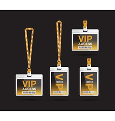 vip access lanyards vector image
