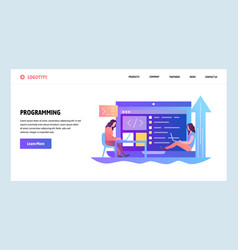 web site onboarding screens programmers coding vector image