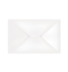 white post letter vector image
