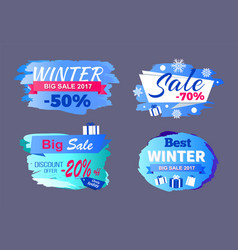 Winter big sale 2017 price discount -70 only today vector