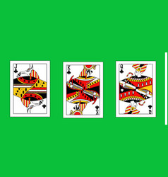 With the egypt playing cards vector