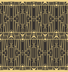 Abstract art deco retro seamless pattern vector