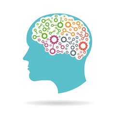 Brain networking parts vector image