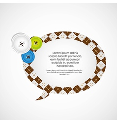 clothing buttons and balloon text lustration vector image