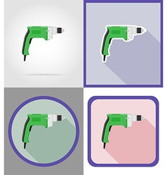 electric repair tools flat icons 03 vector image