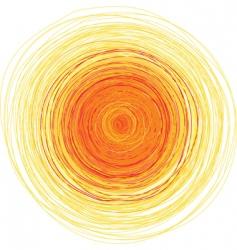 shining sun vector image vector image