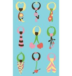 variety of ties vector image vector image