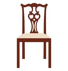 Vintage elegant chair vector image