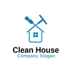 Clean house design vector