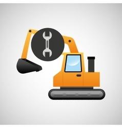 excavator machine wrench tool graphic vector image