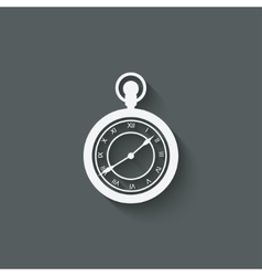 Pocket watch design element vector image vector image