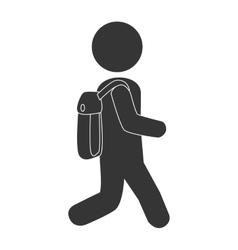 School kid pictogram design vector image