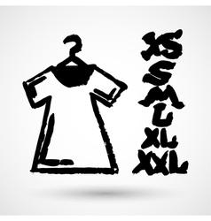 White Blank Tshirt Grunge Icon Symbol vector image
