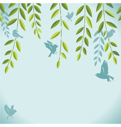 birds on branch vector image vector image