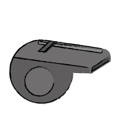 Drawing american football whistle referee vector