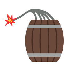 dynamite bomb with burning wick danger explosive vector image