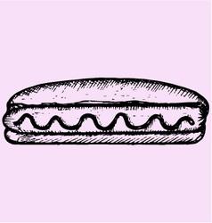 Hot Dog mustard vector image