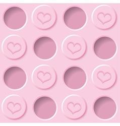 pastel pink background vector image