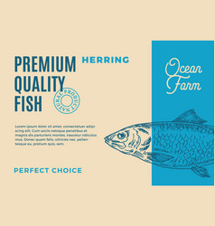 premium quality herring abstract fish vector image