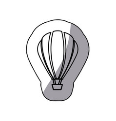 sticker sketch contour hot air balloon icon vector image