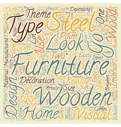 Wooden Vs Steel Furniture Which one should I vector image