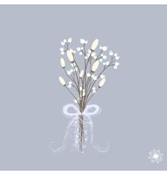 beautiful winter bouquet of vector image vector image