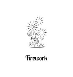 Firework company logo design vector image vector image