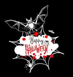 Happy Halloween message design background EPS 10 vector image