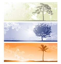 Tree Background Sets vector image