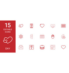 15 day icons vector image