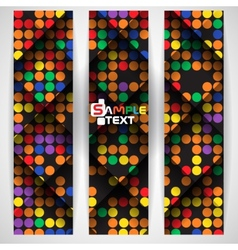 Abstract Colorful Mosaic Pattern Design vector image
