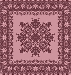 Abstract frame ethnic shawl floral pattern design vector