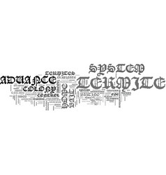Advance termite system text word cloud concept vector