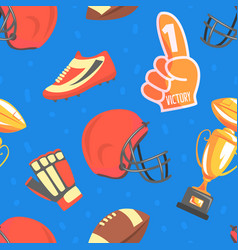 american football seamless pattern sport game vector image