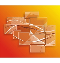 Background orange abstract website pattern vector