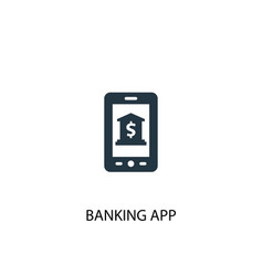 banking app icon simple element vector image