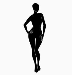 black silhouette a female body vector image