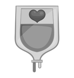 Blood donation icon black monochrome style vector image