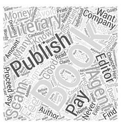 Book Publishing Scams What Are They and How to vector image