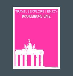 brandenburg gate berlin germany monument landmark vector image
