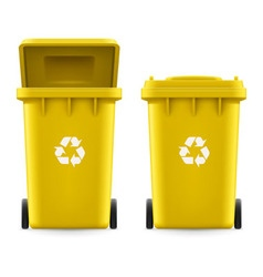 Buckets for trash vector image
