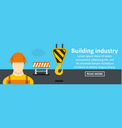 building industry banner horizontal concept vector image