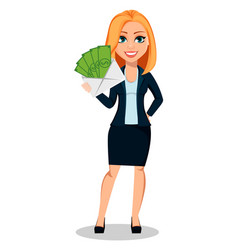 business woman in office style clothes vector image