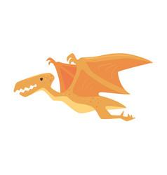 Cartoon pterosaurs dinosaur character jurassic vector