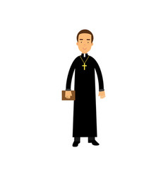 catholic priest character religion representative vector image