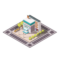 Cinema isometric illsutration vector