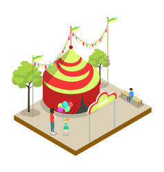 Circus tent isometric 3d element vector