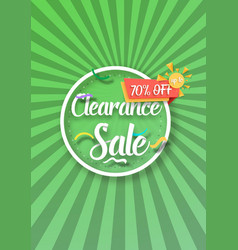 Clearance sale poster vector
